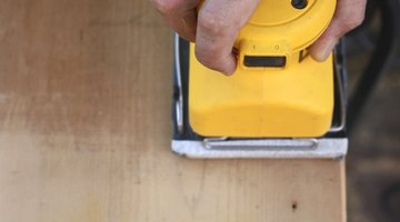 Skip ahead to the hardware installation steps if you're happy with the original wood finish.