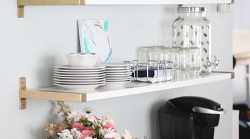 Admire your new styled shelves