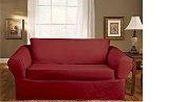 Slicovered pillow back sofa