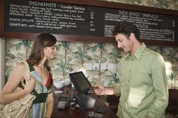 A hostess may help customers with their after-dinner tallies.
