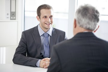 Man in a job interview
