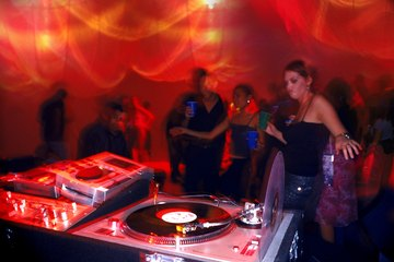Club and mobile DJs charge by the hour or have a set rate for club gigs or events