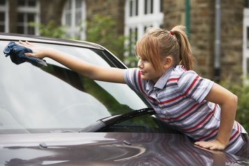 Kids can ask parents if they can wash the car for money.