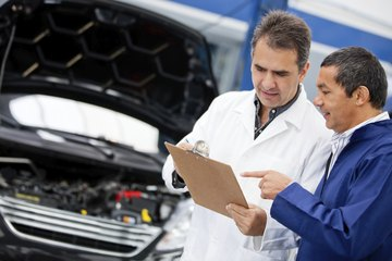 Earn an associate's degree in mechanical or automotive engineering.