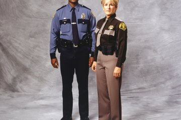 Police officer and sheriff