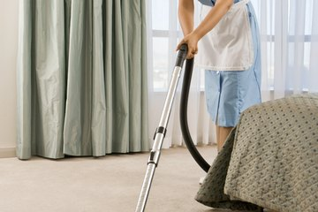 Vacuuming is one of the final steps.