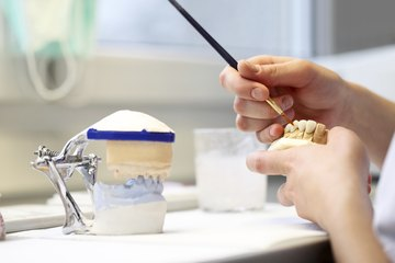 Dental technician at work