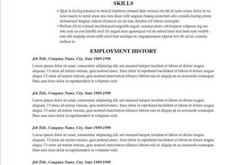 traditional resumes
