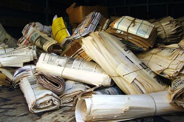 Collect neighborhood paper waste.