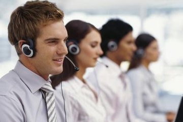 Customer service agents responding to inquiries via telephone