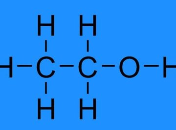 The chemical structure of ethanol