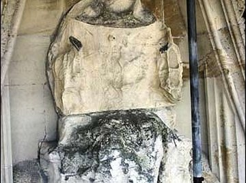 Over time, statues can suffer acidic rain damage. Courtesy www.bbc.co.uk