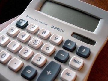 A solar-powered calculator with basic arithmetic operations.