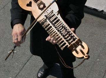 The frequencies produced by musical instruments contain harmonics