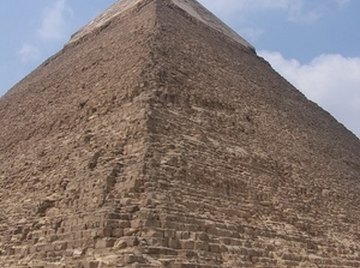 Calculate the volume of a pyramid, such as the Great Pyramids in Egypt with a simple formula.