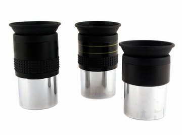 Use eyepieces to change the magnification strength of a telescope.