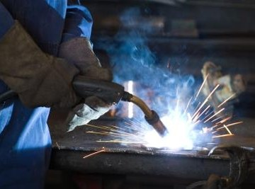 Several types of welding are used in construction.