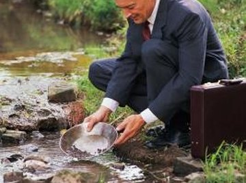 Panning for gold can be fun.