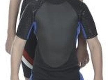 The neoprene in a wet suit is made from a polymerization reaction.