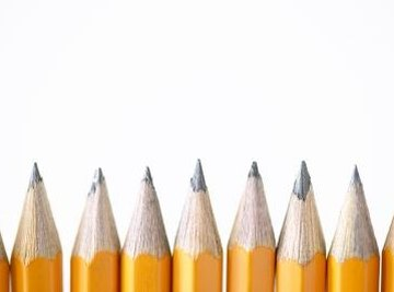 The lead of the average pencil is actually made from graphite and clay, not lead.