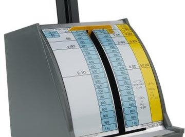 Some scales measure both pounds and grams.