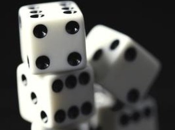 The values returned by a set of dice are an example of a discrete probability distribution.
