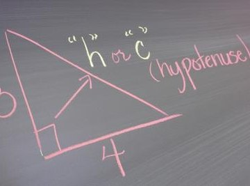 The Pythagorean theorem can find the length of any side of a right triangle.
