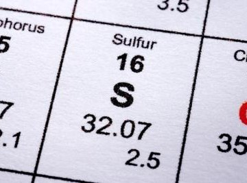 Sulfur is yellow and is odorless.