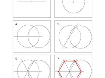 Steps of hexagon construction