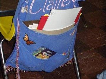 Make a Homemade Pack Organizer for a School Desk