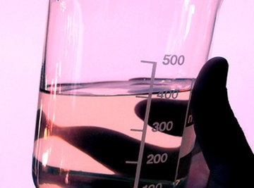 A beaker of oil to be tested