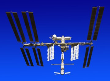 Satellites are made of highly reflective material.