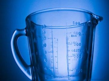 Milliters and fluid ounces measure liquid volumes.
