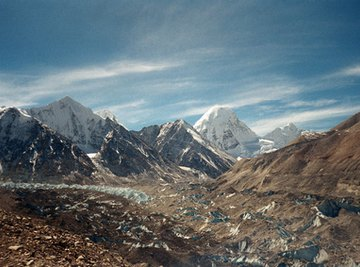 Water from the Himalayas eventually reaches the river deltas where alluvial soil is formed.