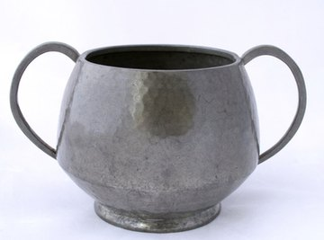 Pewter has a dull matte finish when compared to silver plate.