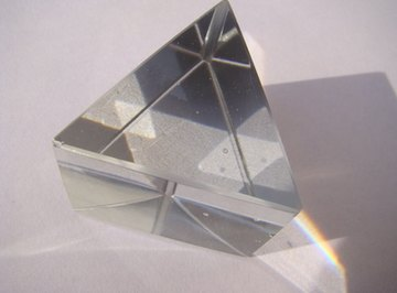 When light passes through your prism, your angle of refraction depends on the refractivity indexes of both air and your prism.