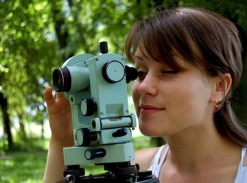 Theodolites are used to measure vertical and horizontal angles.