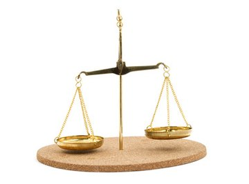A scale is balanced when both sides are equal.