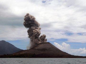 Pumice is made by erupting volcanoes.