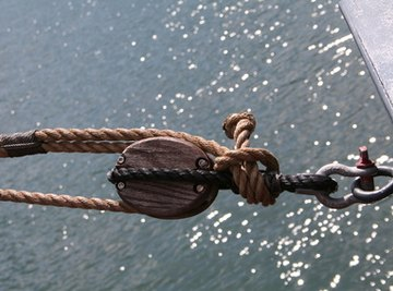 Pulleys are one part of a block and tackle system.