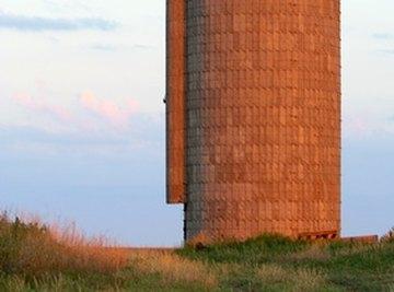 A silo is shaped like a cylinder.
