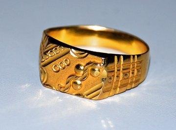Ten-karat gold jewelry contains other metals.