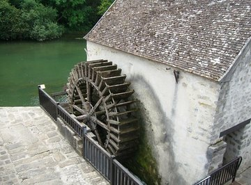 Water wheels can be used on a small scale to generate electricity.