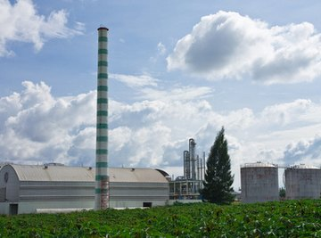 An ethanol factory, producing biofuel from corn.