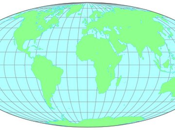 A coordinate grid system is used to pinpoint a location on Earth.