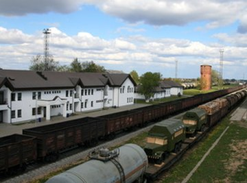 Cylindrical oils tanks, like this rail road tanker, can be calculated with a simple volume formula.