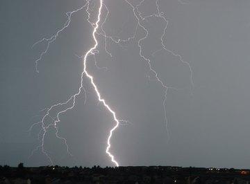 Thunder occurs when lightning heats the air.