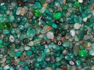 Polished stones ready for making jewelry.