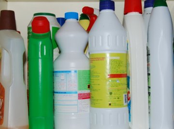 Household cleaning chemicals can be used to restore rubber.