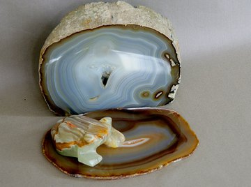 Agates are rough on the outside and beautiful inside